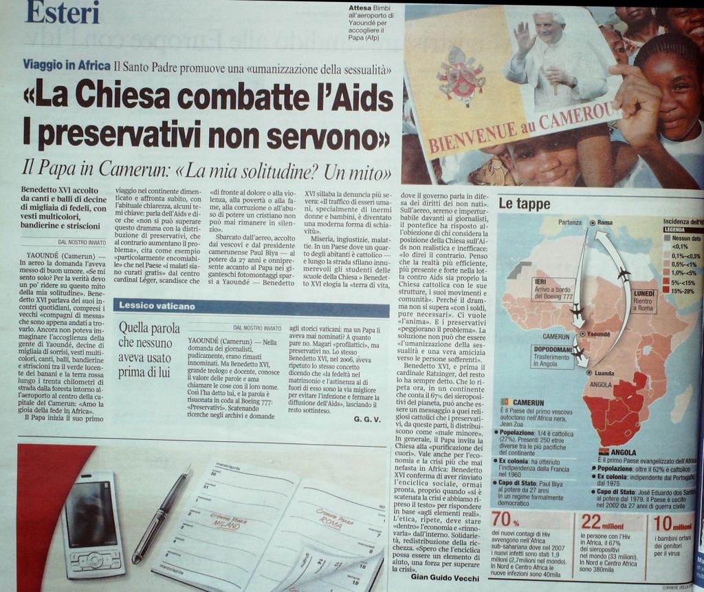 Corriere della Sera 18 marzo 2009