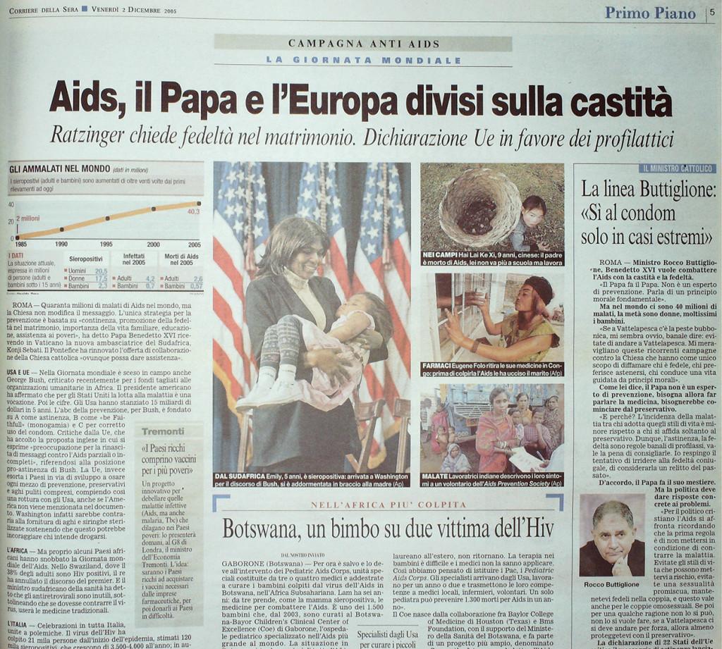 Corriere della Sera 2 dicembre 2005