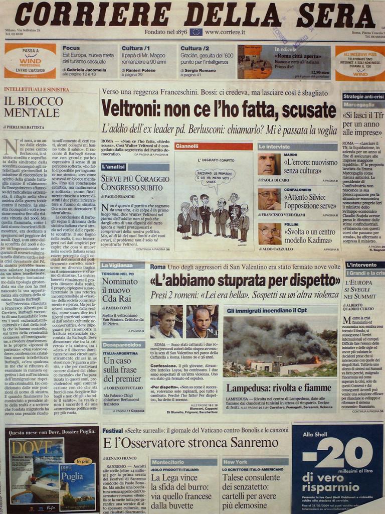 Corriere della Sera 19 Febbraio 2009