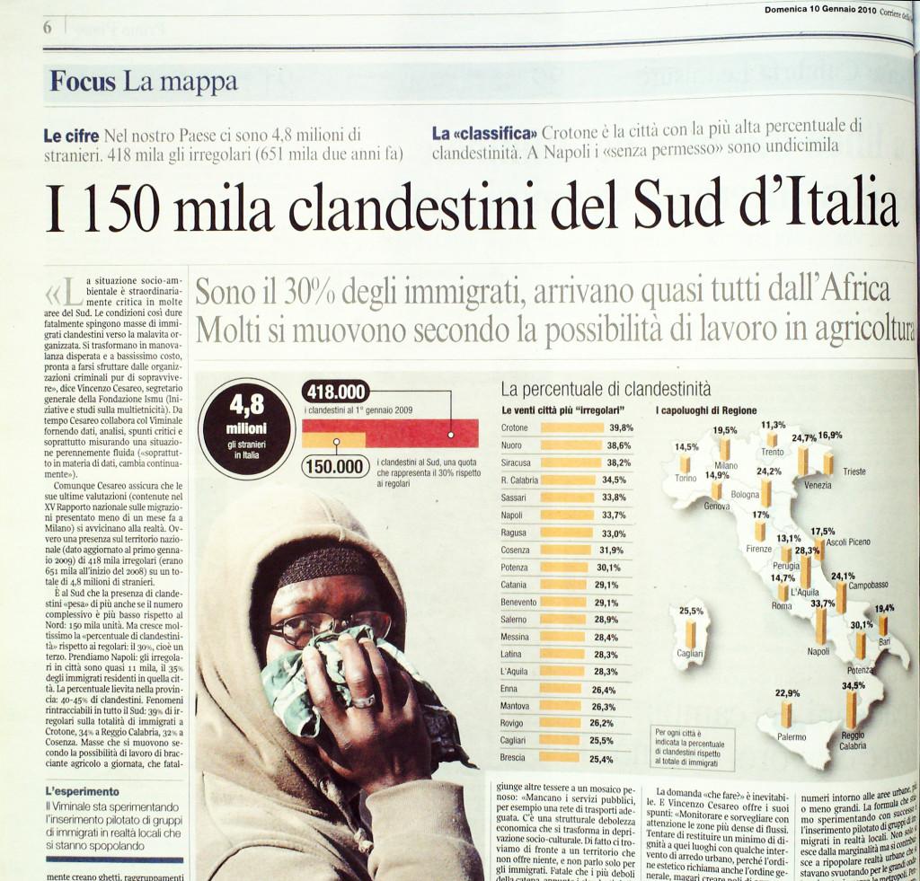 Corriere  della Sera10 gennaio 2010