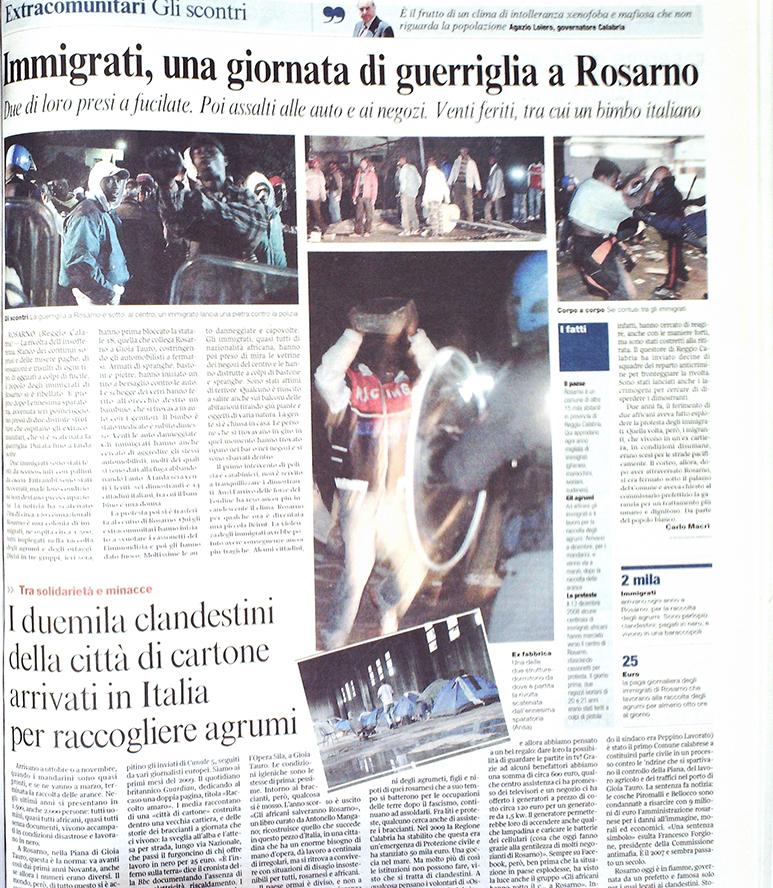 Corriere della Sera 8 gennaio 2010