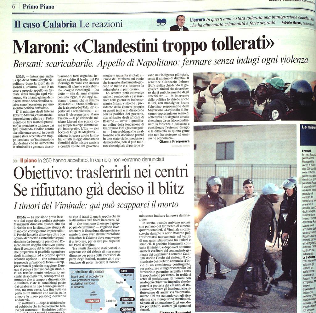 Corriere 9 gennaio