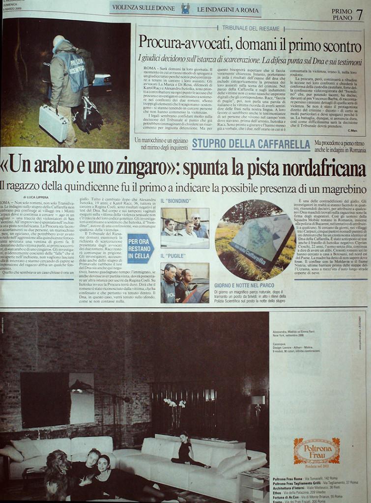 Messaggero 8 Marzo 2009