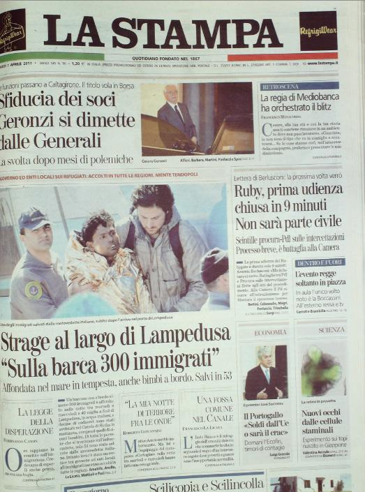 La Stampa del 7 aprile 2011
