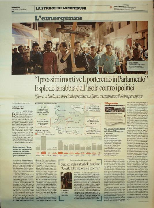 La Repubblica 5 ottobre 2010