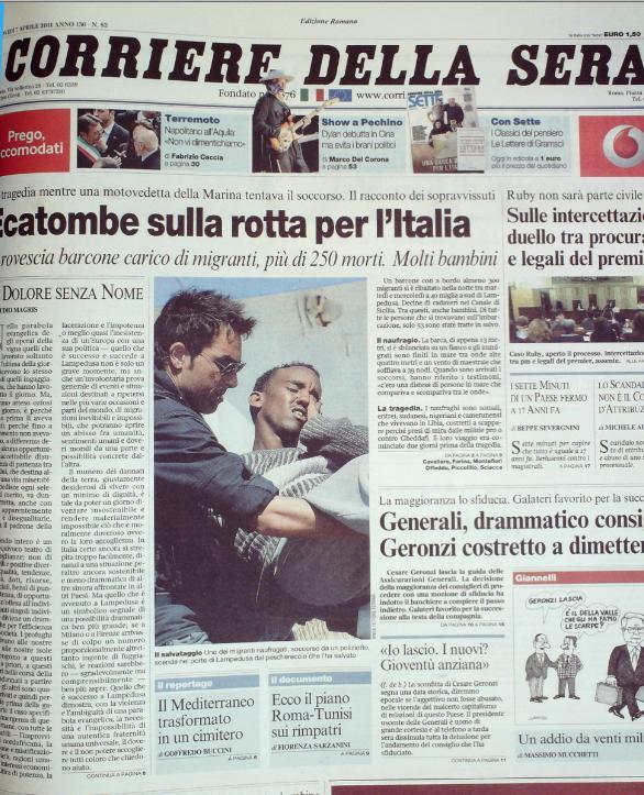 Corriere della Sera 7 aprile 2011