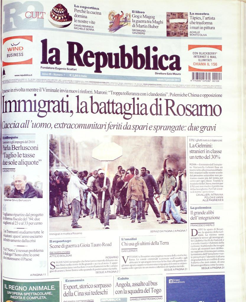 Repubblica 9 gennaio 2010