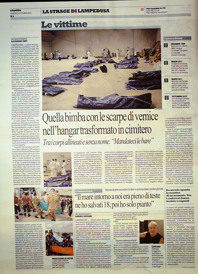 Repubblica 4 ottobre  2013
