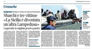 Corriere sella Sera 9 giugno 2014