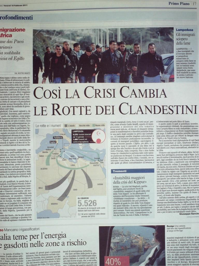 Corriere della Sera 16 febbraio 2011