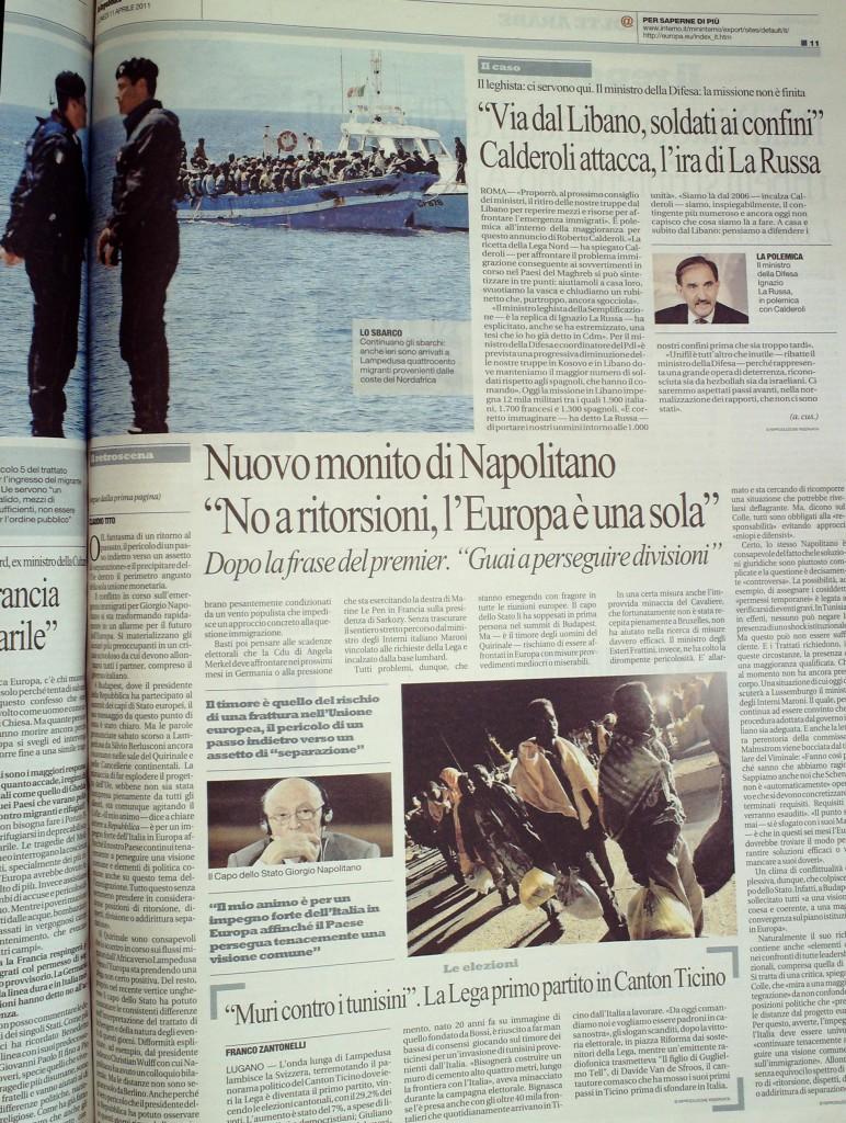 Repubblica del 11 aprile 2011