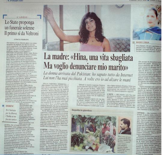 Corriere della Sera, 21 Agosto 2006,