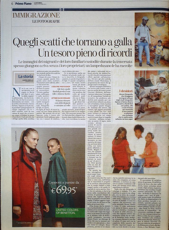 La Stampa 5 ottobre 2013
