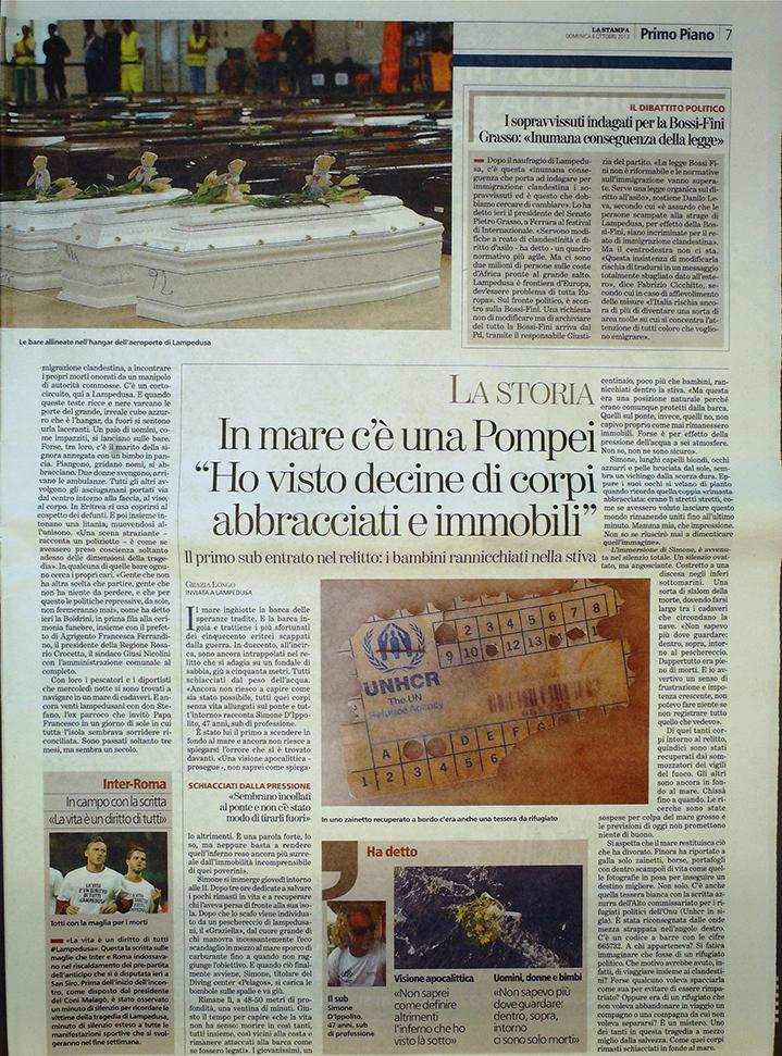 La Stampa 6 ottobre 2013