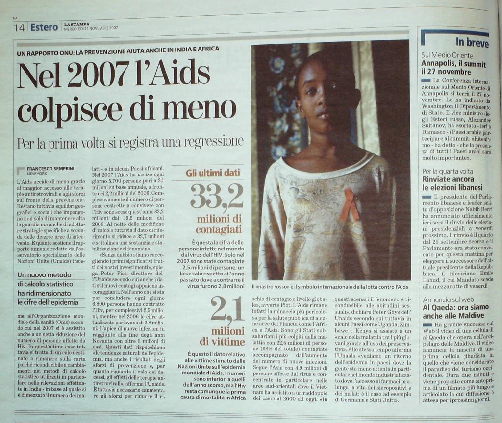 La Stampa 31 novembre 2007