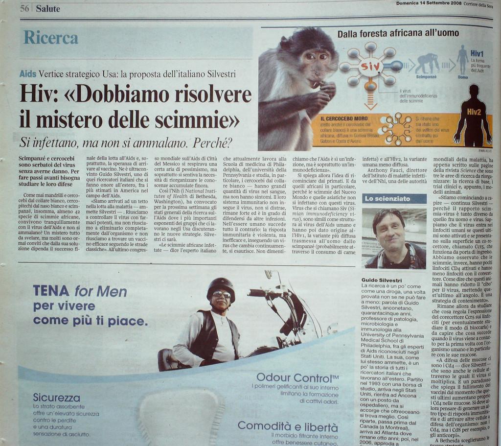 Corriere della Sera 14 settembre 2008