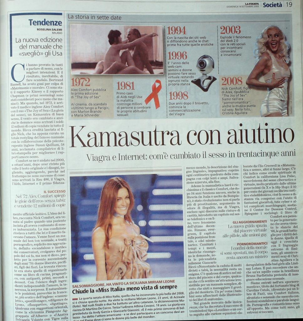 La Stampa 14 settembre 2008
