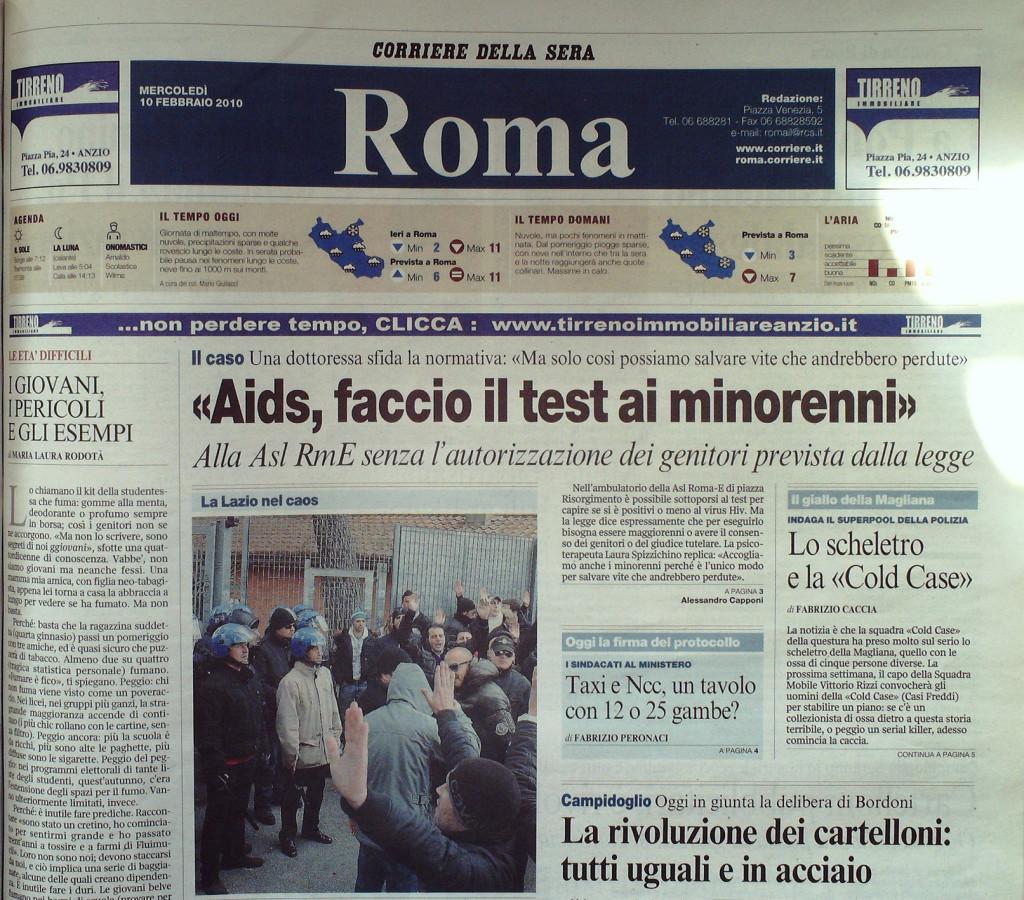 Corriere della Sera 10 febbraio 2010