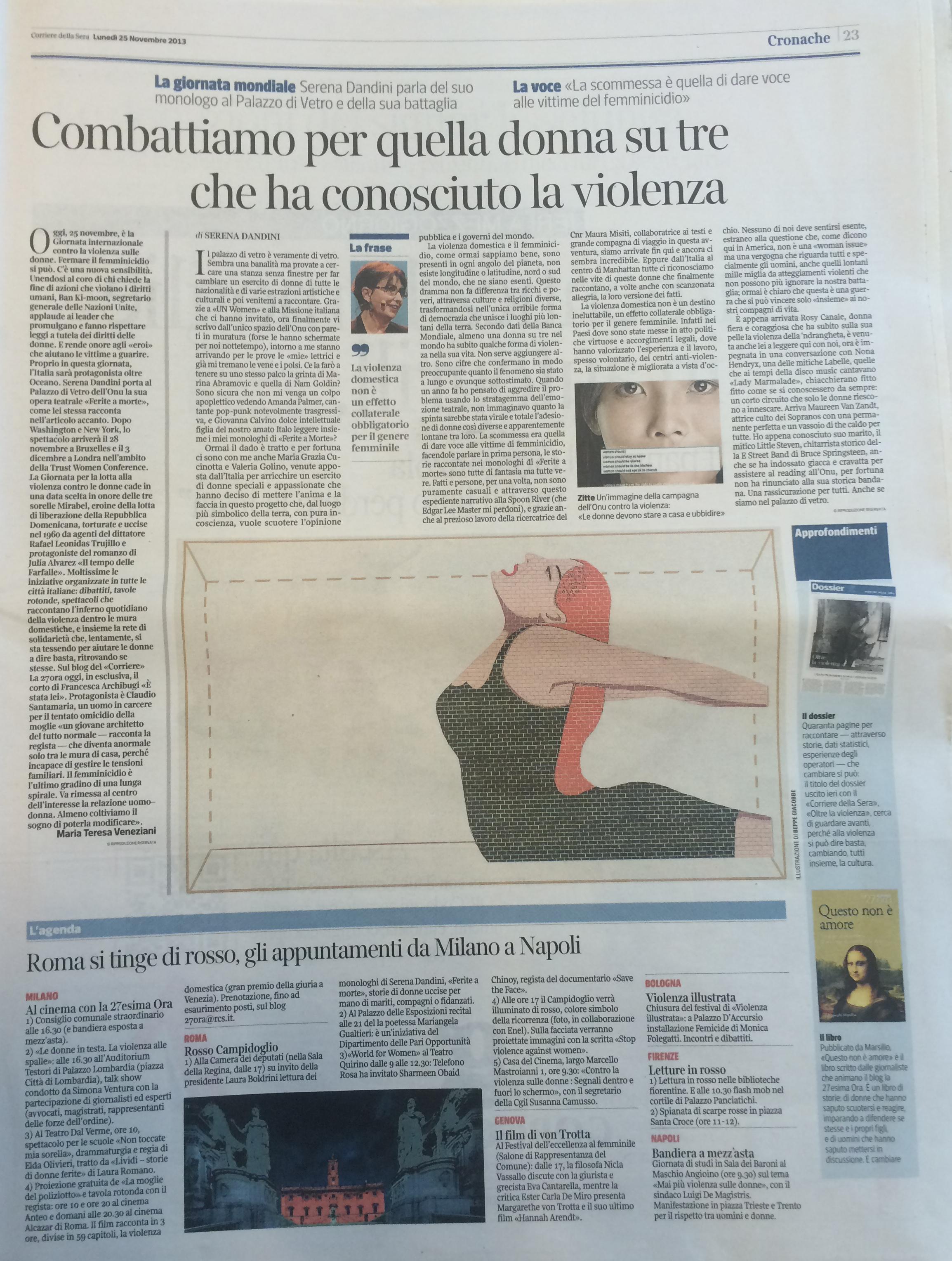 Corriere della Sera 25 novembre 2013