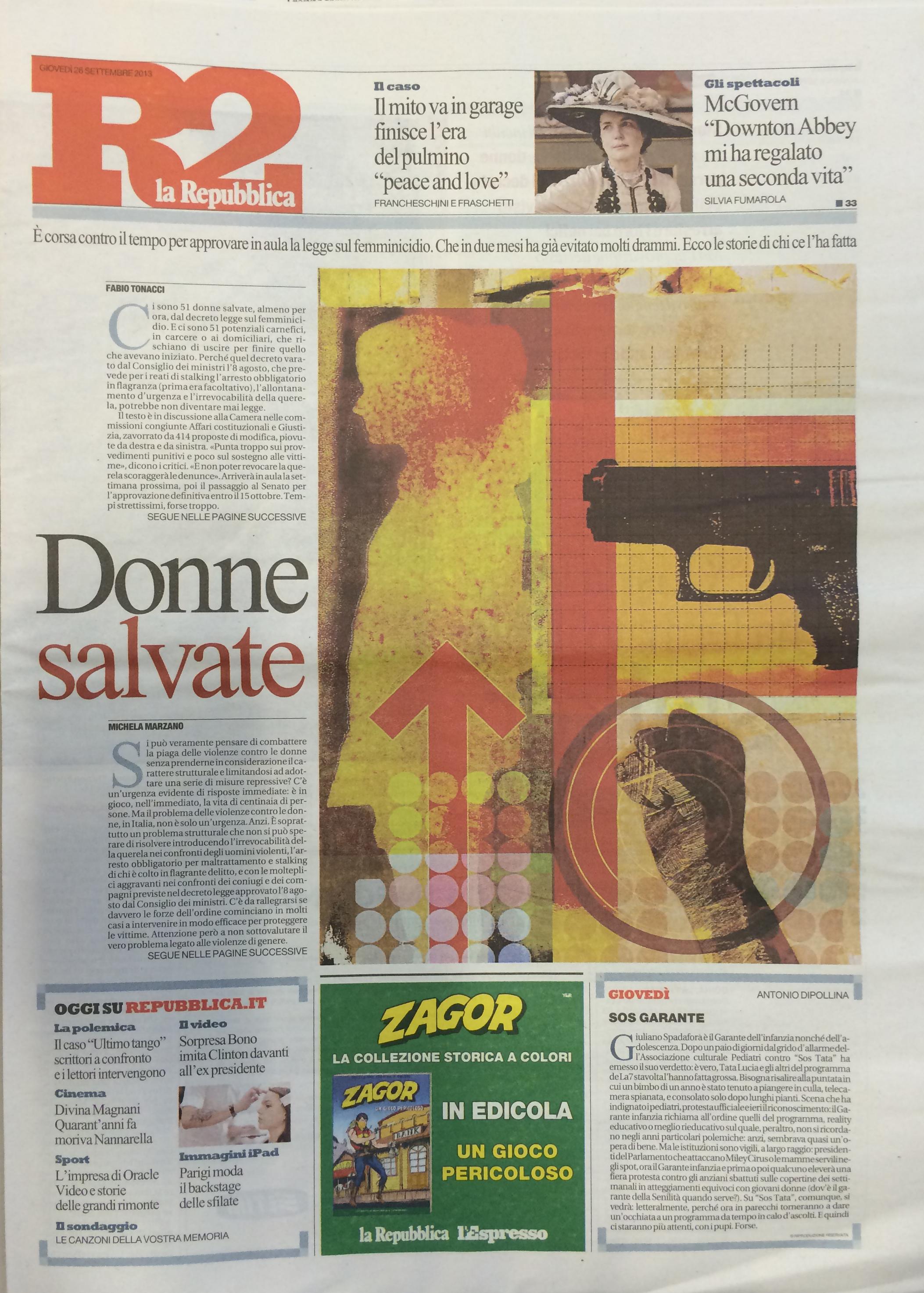 Repubblica, R2, 26 settembre 2013