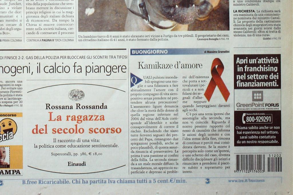 La Stampa 2 dicembre 2005