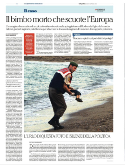 La Repubblica 3 settembre 2015